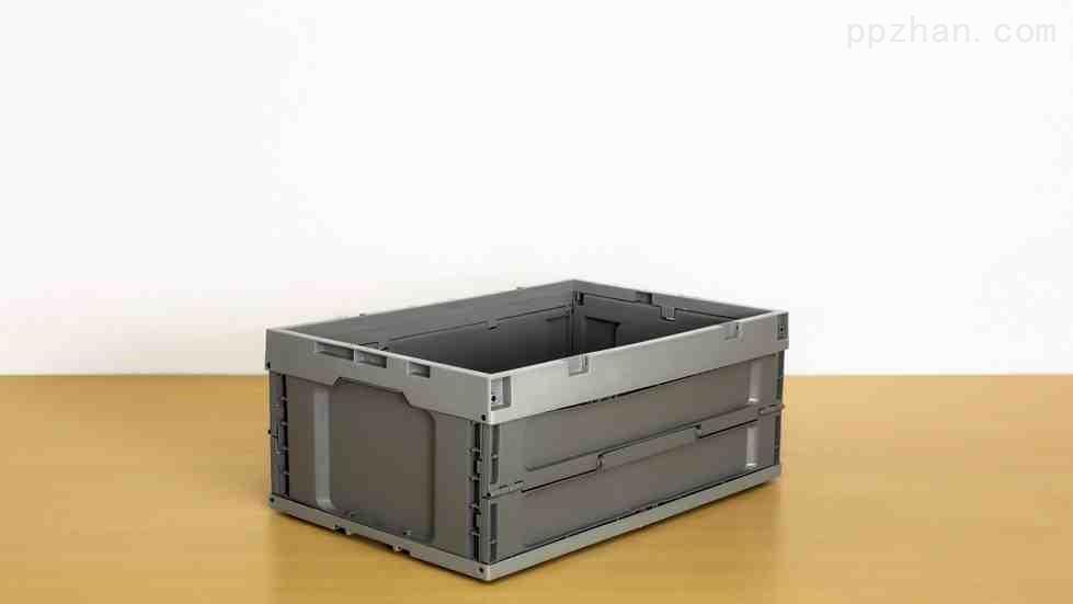 苏州迅盛EU折叠箱拦腰式6424塑料箱工厂直销