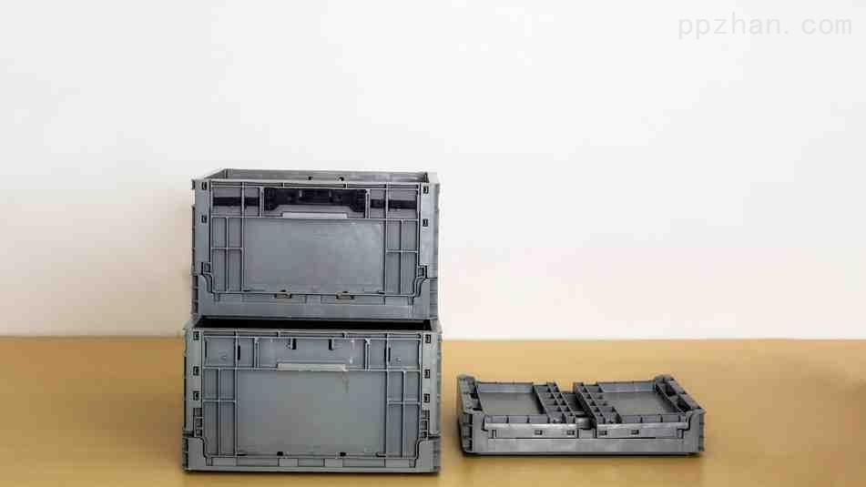 苏州迅盛EU折叠箱拦腰式6428塑料箱厂家定制